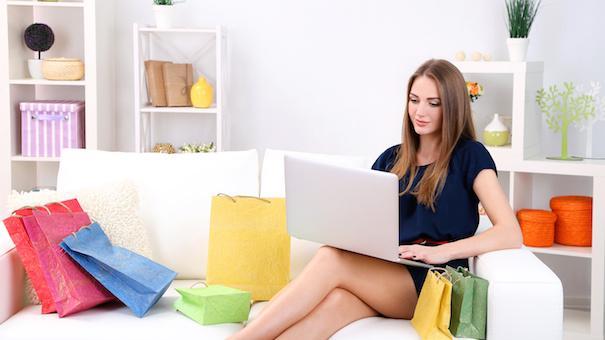 Women shopping online