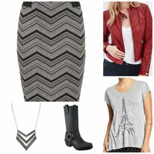 Casual Chevron Skirt
