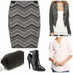 Night Out Chevron Skirt