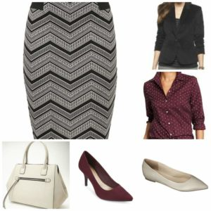 Work Chevron Skirt