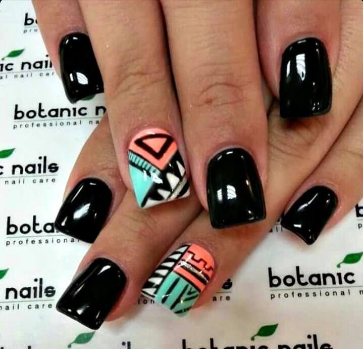 Fancy Aztec Nail Design Image - Nail Art Ideas - morihati.com