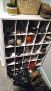 After getting rid of about 20 pairs of shoes last year.